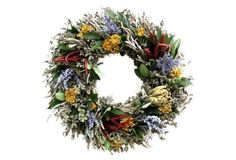 Artichoke and Herb Wreath, Dried, $59; onekingslane.com   - ELLEDecor.com