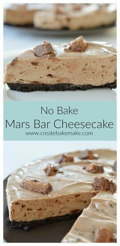 An easy and delicious No Bake Mars Bar Cheesecake recipe - perfect for the chocoholics out there!
