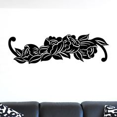 nice Simple Flower Decal Wall Sticker