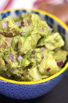 Creamy Avocado Potato Salad (Vegan)!