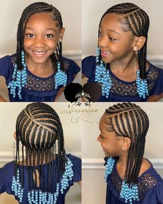 A selection of 50 plus braided hairstyles for girls including kids braids with beads, ponytails, box braids and more. A selection of 50 plus braided hairstyles for girls including kids braids with beads, ponytails, box braids and more. Little Girl Braid Styles, Kid Braid Styles, Little Girl Braids, Kid Styles, Toddler Braided Hairstyles, Baby Girl Hairstyles, Natural Hairstyles For Kids, Little Girl Braid Hairstyles, Hairstyles For Children