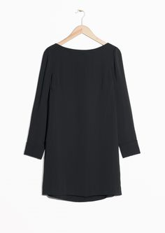 & Other Stories image 1 of Back Button Dress  in Black