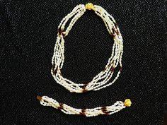 Wunderschöne Süßwasserperlenkette + Armband mit Granaten  Wie neu!