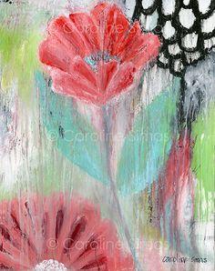 Garden of Grace matted print by CarolineSimasStudio on Etsy