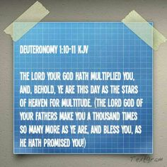Deuteronomy 1:10-11 KJV