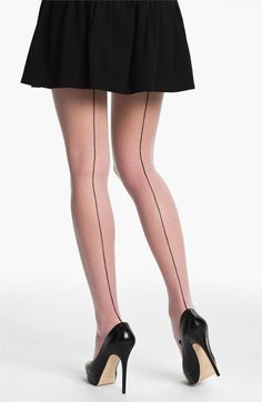 Back seam tights (with an otherwise-conservative outfit)