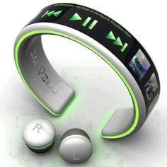 Wireless wrist MP3 player