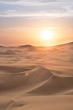 """Sunset in the desert of Ica, Peru. Travel photography and guide by Natasha Lequepeys for """"And Then I Met Yoko"""". Peru Travel Destinations Honeymoon Backpack Backpacking Vacation Wanderlust Budget Off the Beaten Path South America"""