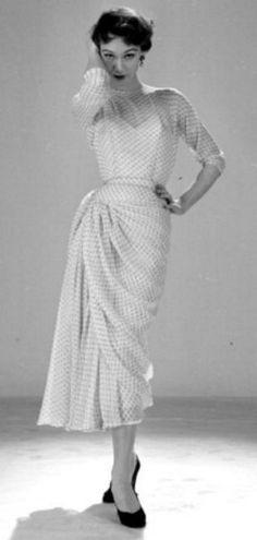 Manguin Dotted Swiss Dress 1953