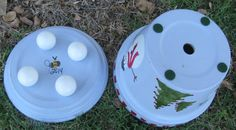 Etsy の Snowman Planter by bubee