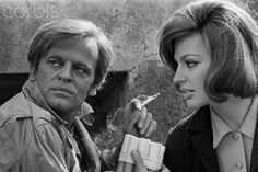 Princess Ira von Furstenberg and Klaus Kinski.