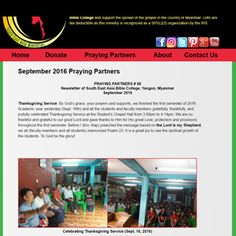 """Have you read our Monthly Newsletter, entitled """"Praying Partners""""?   Click here to view the September 2016 Issue of our Praying Partners Newsletter #58 :  http://seamfoundation.org/september2016prayingpartners.php  #seamfoundation #prayingpartners #southeastasiaministries #southeastasiabiblecollege #myanmar #burma #yangon #september #september2016"""