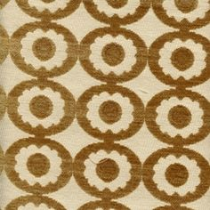 Fun Shapes Gold Contemporary Upholstery Fabric - Fabric By The Yard