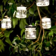 Firefly Jar Solar LED String Lights - 10 Lights from Online Lighting.