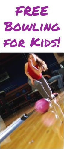 FREE Bowling for Kids!  {a fun air-conditioned summer activity for the kiddos!} #bowling