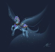 Celestial Steed by Noxychu.deviantart.com on @DeviantArt