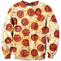 Pizza Sweatshirt @lizmadden this made me think of you lol