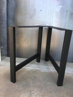 H forme acier jambe ensemble de 2 pieds de table basse patte