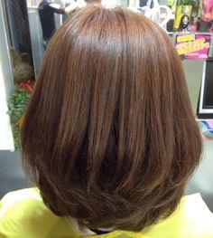 Short bob medium brown hair