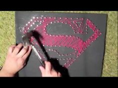 string art by Aline Campbell - The Owl - YouTube