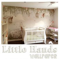 Little Hands Wallpaper Mural - The wallpaper can be ordered in various sizes. We are like tailors, the wallpaper will fit perfectly on your wall, you just have to give us the measures you need! Little Hands Wallpaper, Upstairs Bedroom, Kids Bedroom, Bedroom Ideas, Custom Wallpaper, Bedroom Wallpaper, Kids And Parenting, Room Decor, Nursery
