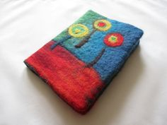 Hand-felted removeable cover for book / notebook / journal, made by Deborah Iden.  See more by LittleDeb on Pinterest, Facebook and Etsy. Journal Notebook, Coin Purse, Felt, Facebook, Cover, Books, Etsy, Inspiration, Hundertwasser