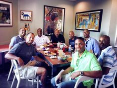 Grant Hill and some other Duke Basketball legends.