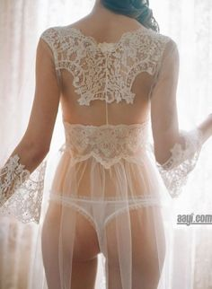 Beautiful white sheer lace