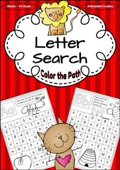 Fun way to review the upper- and lowercase letters of the alphabet.