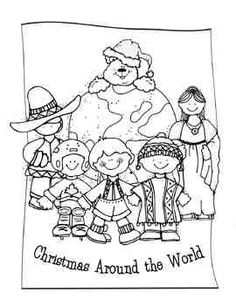 Missions coloring pages. Africa, Asia, Latin America