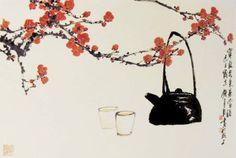 Новости Japanese Painting, Chinese Painting, Japanese Art, E Flowers, Flower Art, Ink Painting, Watercolor Art, Chinese Blossom, Tea Illustration