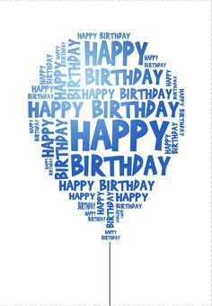 Free Printable Happy Birthday Balloon Greeting Card