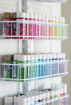 Hi Sugarplum Organized Craft & Gift Wrap Great idea for using the back of a closet door for more storage and organization Craft Closet Organization, Craft Room Storage, Storage Ideas, Craft Rooms, Closet Storage, Organization Ideas, Organizing, Organize Craft Closet, Play Rooms