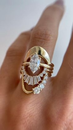 Cute Jewelry, Gold Jewelry, Unique Jewelry, Jewellery, Dream Engagement Rings, Unique Diamond Engagement Rings, Vintage Engagement Rings, Bridal Ring Sets, Bridal Rings