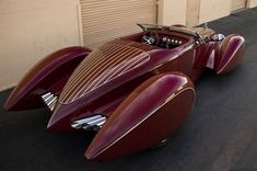 (pic 1937 Designed by Chip Foose Studebaker (Custom) Boattail Convertible Speedster via art deco Deco Cars, Art Deco Car, Bmw Autos, Vw Vintage, Sweet Cars, Rat Rods, Amazing Cars, Awesome, Hot Cars