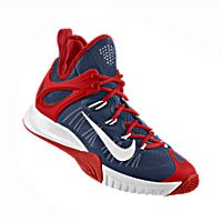 I designed the dark blue Arizona Wildcats Nike men's basketball shoe with cardinal red and white trim.