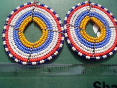 Hand Made African Masai Beads Earrings by nariv on Etsy