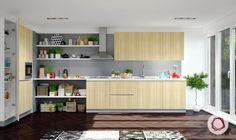 12 Grey Kitchens That Are Drop Dead Gorgeous Kitchen Cabinet Design, Kitchen Shelves, Kitchen Layout, Kitchen Interior, Apartment Interior, Kitchen Cabinets, L Shaped Kitchen Designs, Grey Kitchen Designs, Elegant Kitchens