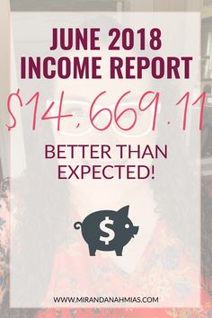 June 2018 #IncomeReport: It went better than expected! // Miranda Nahmias & Co. Systematic Marketing for Female Service Providers -- #business #finances