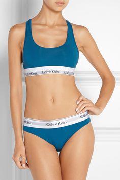 589c561be4 Calvin Klein Underwear - Stretch cotton-blend sports bra