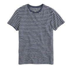 Field knit striped tee