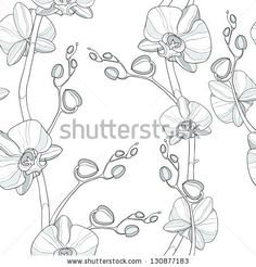 Seamless pattern with orchid by Goodreason, via Shutterstock