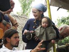 family group at the Viking market in Archeon in 2006