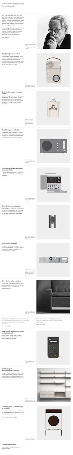 Infographic: 10 Principles for good design | Design made in Germany: Dieter rams | Mehr