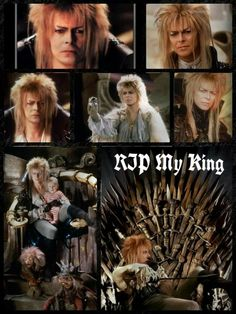 We've lost a beautiful soul yesterday, may he rest in peace 😢 David Bowie Labyrinth, Labyrinth 1986, Sarah And Jareth, Goblin King, Fantasy Films, Jennifer Connelly, Sing To Me, Rainbow Bridge, Rest In Peace