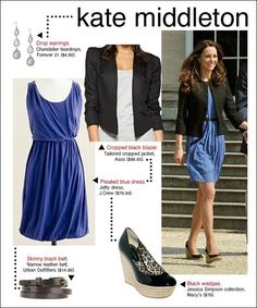 Kate Middleton's blue pleated dress...{Wednesday Wishes 10}