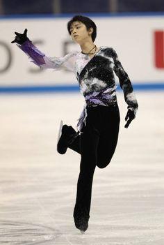 NHK杯男子SPで5位となった羽生結弦(愛知・日本ガイシアリーナ)(2010年10月23日) 【時事通信社】