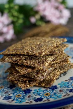 Hartige Chia-Lijnzaad #crackers #lowcarb #koolhydraatarm