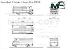 Mercedes-Benz L 409 Kastwagen mit Radstand 2950mm '1955-1972 - blueprints (ai, cdr, cdw, dwg, dxf, eps, gif, jpg, pdf, pct, psd, svg, tif, bmp)