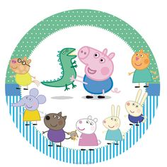 Lembrancinha peppa pig: 80 modelos e dicas fantásticas para se inspirar! Peppa Pug, Peppa Pig Funny, Peppa Pig Teddy, Fiestas Peppa Pig, Cumple Peppa Pig, Peppa Pig Printables, Dinosaur Printables, Free Printables, Cumple George Pig